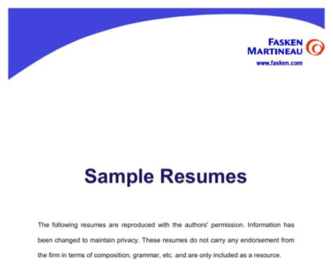 Free sample resume contractor